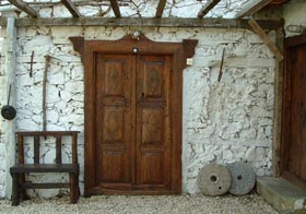 village guesthouse door